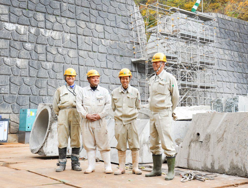 阿賀町の工事の様子